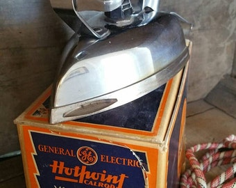 GE Hotpoint Iron, FREE SHIPPING, 1930s Value Matic Electric Iron,  Electric Appliance, antique iron, General Electric Laundry  Appliance