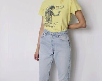 Vintage Levi's 501 Denim Jeans 28 | Levis 501 High Waist Denim Jeans | Medium Blue Denim Jeans