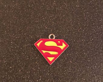 Superman logo charm
