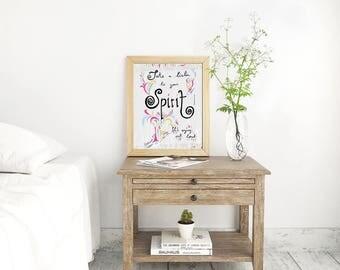 Boho Art Print, Fleetwood Mac Print, Song Lyrics Print, Girly Print, Typography Print, Inspirational Print, Boho Wall Art, Wall Decor