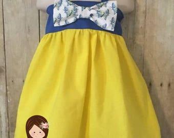Girls Down Syndrome Awareness Dress, Down Syndrome Dress, Buddy Walk Party Dress