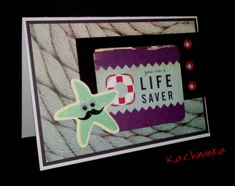 LifeSaver, greeting card / Thank you