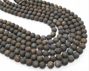 8mm Matte Bronzite Beads, Round Gemstone Beads, Wholesale Beads