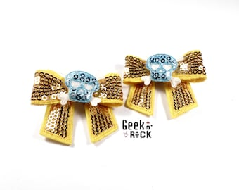 Rock - skull halloween hair clips