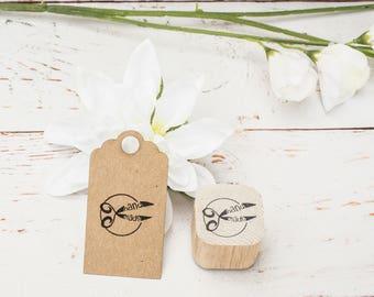 HandMade Stamp, custom stamp, wooden stamp, craft stamp, handmade, packaging, logo, branding, rubber stamp