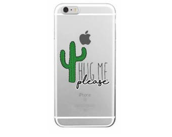 Hug Me Cactus Cell Phone case  Iphone 7 Plus Cacti Phone Case Cover Silicon