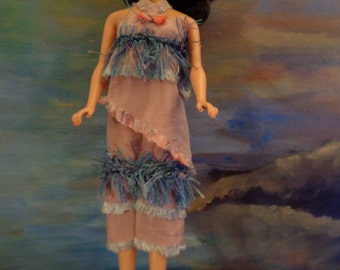 Barbie/Silkstone/Silk dress/Hand made ( WITHOUT DOLL)