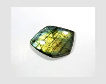 49 Cts 36X26X7mm Natural Labradorite Cabochon Loose Gemstone Fancy Shape Gorgeous Fire Labradorite Gemstones for Jewelry Making Gems