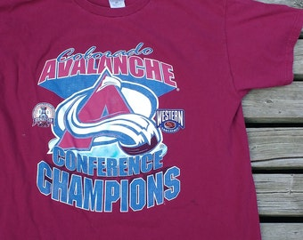 Colorado Avalanche t-shirt NHL Western Conference Champions XL