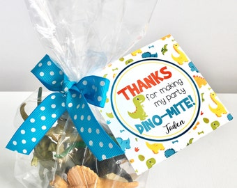 Dinosaur Party Favor Tags - Dinosaur Party Thank You - Dinosaur Tag - Dinosaur Party - Dinosaur Birthday - Dino - Assembled - Printable