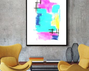 Abstract print, Giclee print, Modern art, Contemporary painting, Large print, Wall art, Home decor