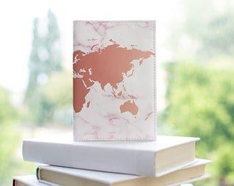 Marble Map Passport Cover Leather Passport Holder Passport Woman Travel Document Holder Travel Wallet Passport Case Passport Print CP0133