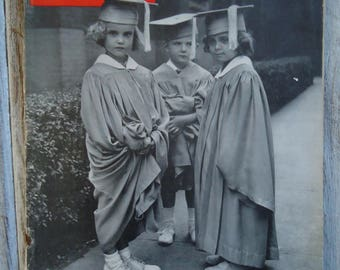 1945 Life Magazine, Vintage magazine ads, Vintage ads, Old advertisements, Vintage child photo, Child graduation, Life magazine, Vintage kid
