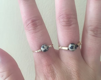 Black, White, and Gold Ring