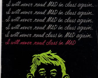 MAD Magazine #128 Alfred Chalkboard July 1969 Issue