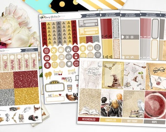 Witchcraft & Wizardry   FULL Vertical Weekly Planner Sticker Kit for use with Erin Condren Lifeplanner™, Personal, A5, Happy Planner