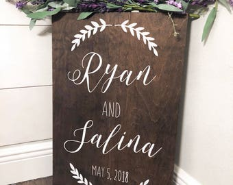 Wood Wedding Welcome Sign - Rustic Wood Wedding Signs - Welcome To Our Wedding Sign - Custom Wedding Signs - Woodsy Wedding