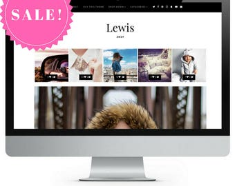 SALE! Lewis | Responsive Minimalist Premade Blogger Template