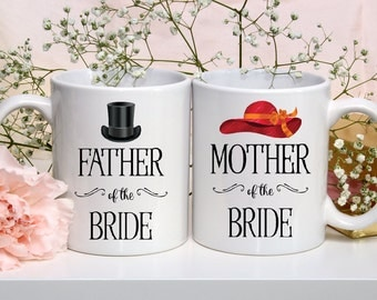 Mother of the Bride Mug | Wedding Coffee Mug | Wedding Mug Set | Father of the Bride Mug | Custom Coffee Cup | Personalized Coffee Mug