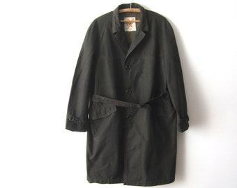 Vintage Men's Dark Chameleon Coat Short Trench Coat Classic Gentleman's Trench Coat 80s  Coat Size Medium Hipster Mens Outerwear Bocaj Coat