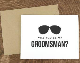 Will You Be My Groomsman Card, Funny Groomsman Card, Groomsman Gift, Wedding Card- (FPS0006)