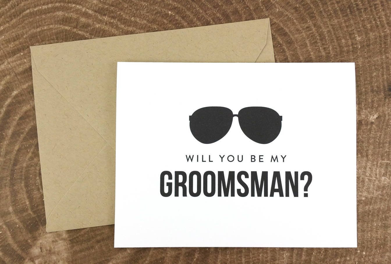 Will you be my groomsman card funny groomsman card fps0006 junglespirit Image collections