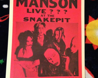Marilyn Manson Vintage Concert Poster Reproduction // 1990s