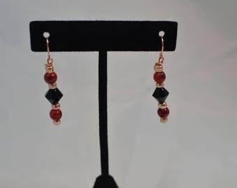 Handmade Beaded pierced dangle EARRINGS #249