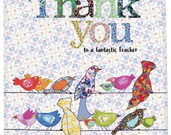 Thank you teacher tea towel, cotton dish towel, cute kitchen towel, lovely gift for teacher, thank you Easter gift from MollyMac