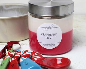 Soy Candle | Mason Jar Candles | Food Gift | Container Candles | Homemade Candles | Dessert Scented Candle | Cranberry Loaf 24 oz
