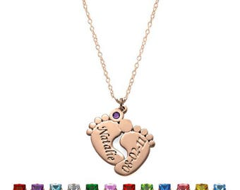 Rose gold 925 sterling silver personalized baby foot chain