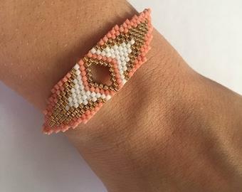 Gold plated woven Miyuki Beads Bracelet