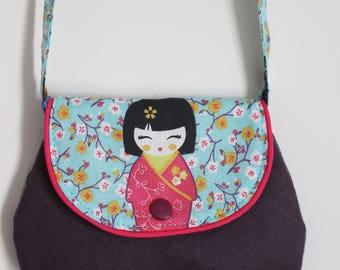 Small bag for Eggplant with Geisha girl