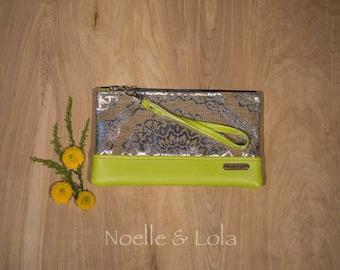 Silver Mandala Clutch, Boho Clutch, Indie Fashion, Multiple color options, Wristlet, Handbag, Artisan Bag, Gift for Her, by Noelle & Lola