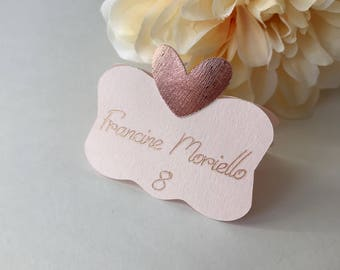 wedding place cards blush pink place cards rose gold place cards blush pink