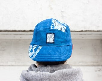 MOON in PISCES II - ColorClashCollection2018 - 5 panels hat/cap Handmade and recycled
