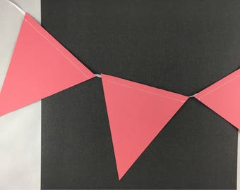 Coral Bunting Banner Flags | Party Decorations | Girl Birthday Decorations