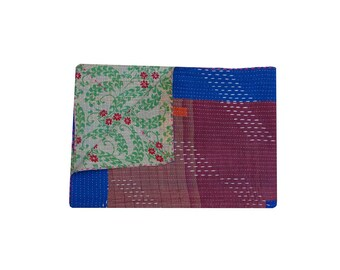 Indian Vintage Hand Embroidered Kantha Throw