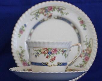 Johnson Bros Vintage Trio floral pattern
