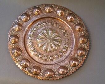 Copper plate, Copper plaque, Copper tray, Wall plaque, Copper decor, Decorative Copper,