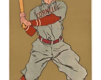 Cornell Baseball Poster Print Art - Vintage Print Art - Home Decor