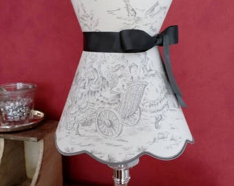 collar, empire, French toile de Jouy shape Lampshade