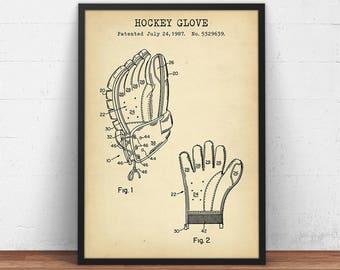 Hockey blueprint etsy hockey gloves patent print digital download sports gloves blueprint art hockey players gift malvernweather Image collections