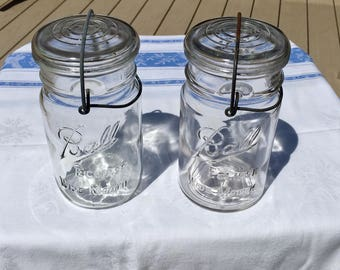Two Vintage Ball Eclipse Jars