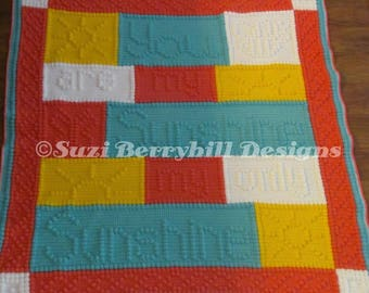 You Are My Sunshine Baby Blanket Pattern