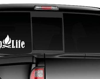 Camping Life Decal Camper Decal Camping Decal, rv, camping, camper, motorhome, travel trailer, camper life, tent Cali stickers vinyl