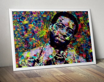 Gucci Mane, Rapper, Hip Hop, Poster, Painting, Print