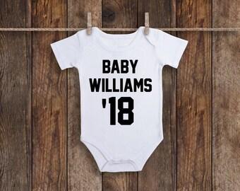 Baby Jersey, Baby Announcement Onesie, Pregnancy Announcement Onesie, Pregnancy Reveal, Custom Baby Onesie, Baby Announcement, Baby Onesie