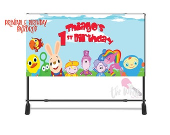 Baby First TV Backdrop, Birthday Backdrop, Personalized Backdrop, baby first tv