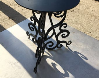 Forged handmade table.